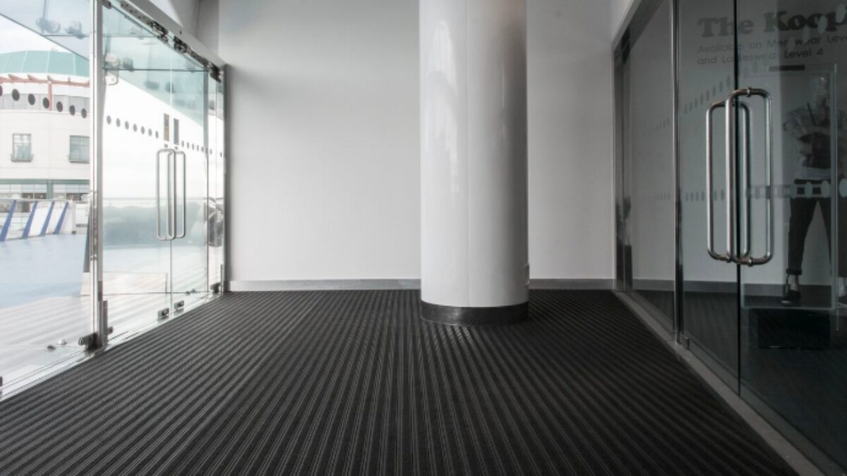 Plastex Frontrunner Plus non-slip entrance mat prevents dirt from entering Birmingham Selfridges