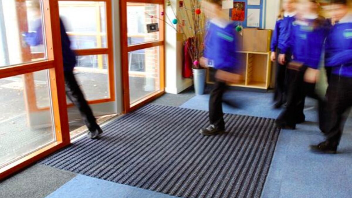 Plastex Frontrunner Plus entrance matting helps keep dirt out of the classrooms at St Andrews school in West Sussex