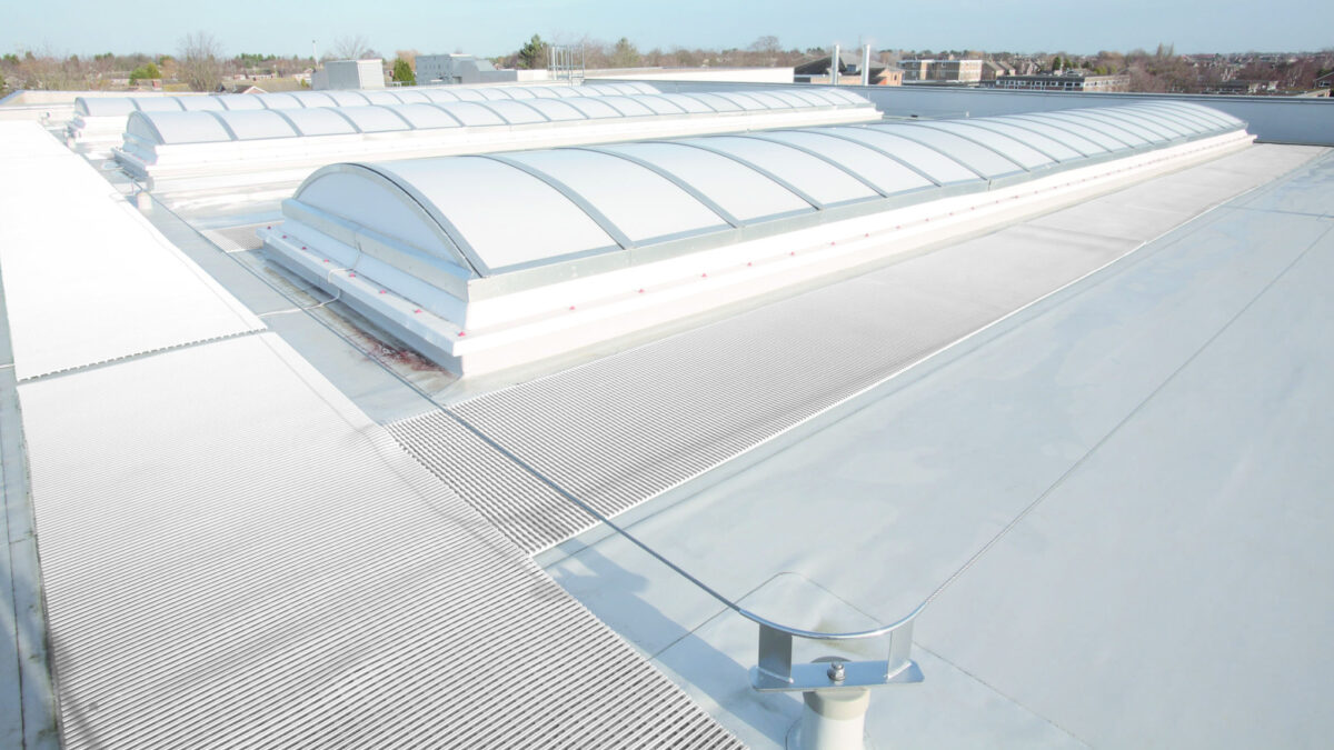 Crossgrip TPO is walkway matting for TPO and EPDM roof membranes.