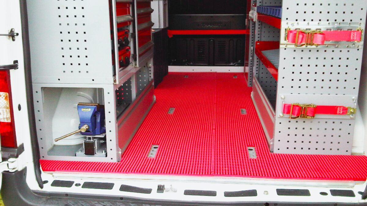 Plastex commercial vehicle matting is cushioned, lightweight and slip-resistant.