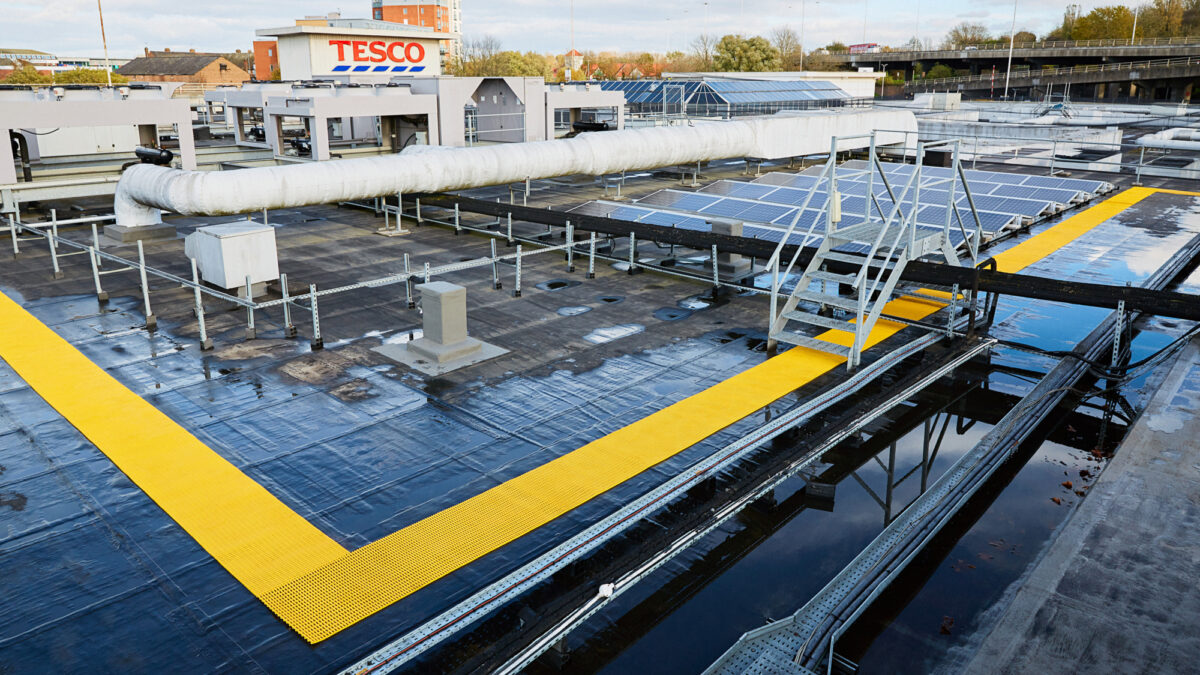 Crossgrip PVC in yellow for highly visible walkways