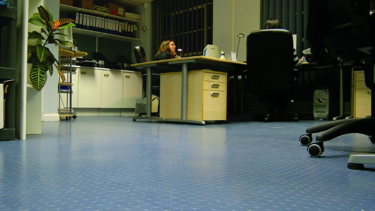Flexi/Eco Coin is multi-purpose matting in a large stud pattern.